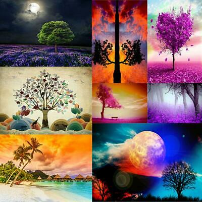 5D DIY Full Square Drill Diamond Painting Tree Cross Stitch Embroidery Kit BF#