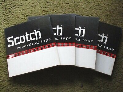 "Lot of 4 boxes Scotch recording tape with 10.5"" NAB METAL REELS"