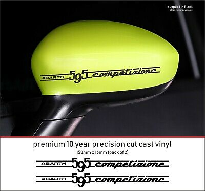 ABARTH 595 competizione 10 YearCast Vinyl Decals Stickers x 2 - many colours