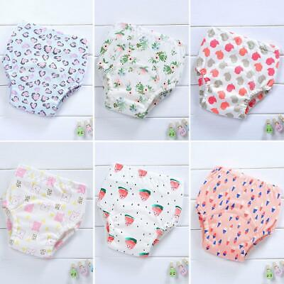 6pcs Baby Diapers Cotton Nappy Washable Toddler Girl Boys Breathable Cover