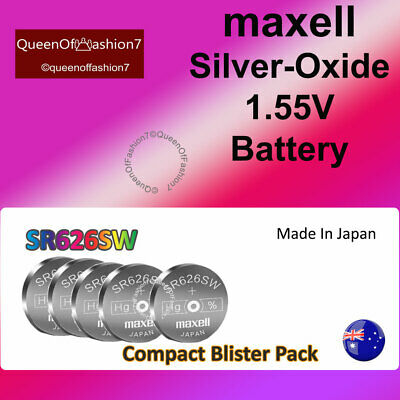 5 x Maxell  SR626 QueenOf7 SR626SW  Silver Oxide 377/AG4 Battery Batteries