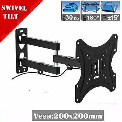 Tilt Swivel TV Wall Mount Bracket Full Motion LCD LED Plasma Flat Slim 10-32inch