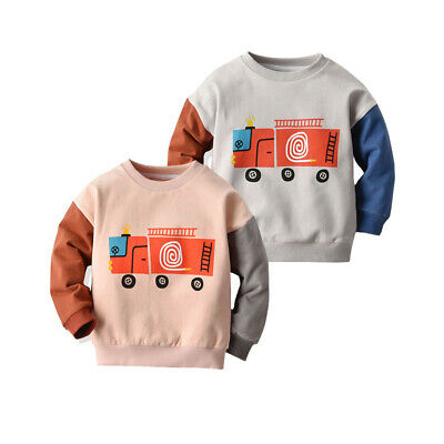 Toddler Kids Baby Boy Girl Children Warm Thick Pullover Sweatshirt Clothes Tops
