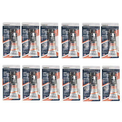 Grey RTV Silicone Sealant Gasket Maker fit Valve Cover Oil Pan Pack of 12