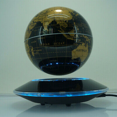 "8"" LED Light Home Decor Floating Magnetic Levitation Floating Globe Display LE"