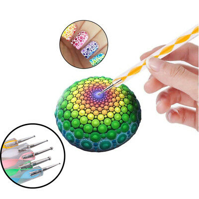 5pcs Ball Stylus Dot Painting Tools for Mandala Rock Art Polymer Clay Use  ^F