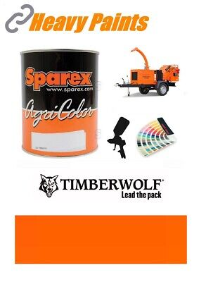 Timberwolf Wood Chipper Orange Paint High Endurance Enamel Paint 1 Litre Tin