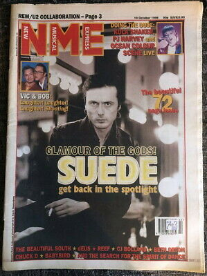 NME New Musical Express 19 Oct 1996 Suede REM U2 Chuck D PJ Harvey Kula Shaker