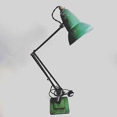 Herbert Terry 1227 (1930's) Anglepoise Lamp with Perforated Shade