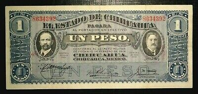 1915 MEXICO Revolutionary State of Chihuahua Madero, Gonzales 1 Peso  (134K)
