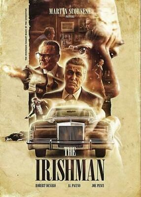 The Irishman Bb1 Gangster Movie Poster Art Print A4 A3 - Buy 2 Get Any 2 Free