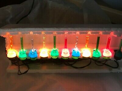 Vintage 1980's Miniature Bubble Lights - Taiwan - 10 ct + 1 extra
