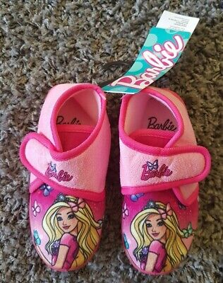 Official Barbie Mattel Slipper Shoes Touch And Close Size 7-11UK 24-29 EU