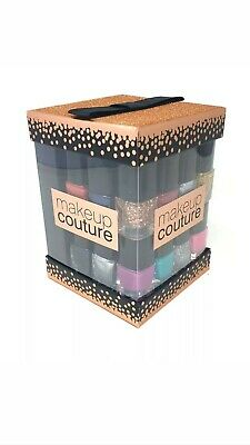 New 12 x Nail Varnish Polish Cube Make Up Gift Set