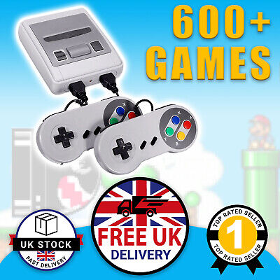 Retro Games Console Mini SNES Style Nintendo: 600 Built-In Games Mario 2 Player