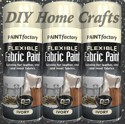 Home Crafts DIY Ivory Flexible Spray Paint Leather, Fabric, Vinyl, Canvas & More