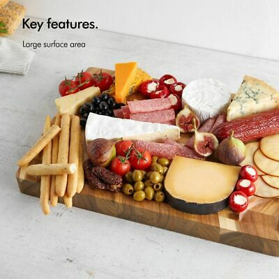 Best Large Wooden Chopping Board Acacia Cutting Slicing Meat Vegetable Kitchen