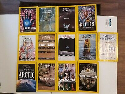 Lot of 12 National Geographic Magazine 2019, January through December -read once