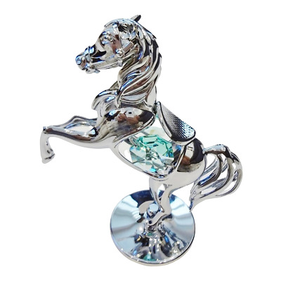 Crystal Crystocraft Pony Ornament With Swarovski Elements (with Box)