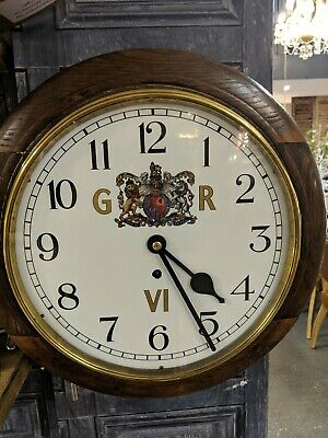 1940's School Office Railway Pendulum Wall Clock