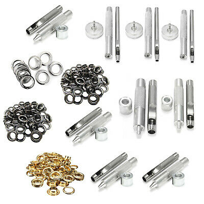 Grommet Fixing Tool with 100pcs Eyelets Washers for DIY Bags Belts Leatherpurses