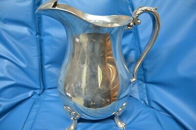 Crescent Silver Company Silverplate  Footed Water Pitcher