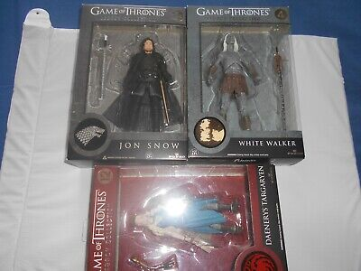 Game Thrones Trono di Spade lotto JON, DAENERYS MYHA, WHITE WALKER figure Legacy