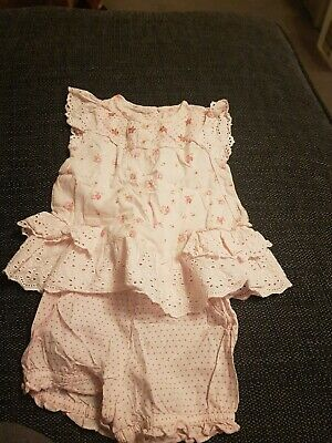 Baby Girls Next Two Piece Pink Floral Outfit Size 0-3 Months
