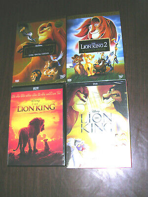 The Lion King (DVD, 2019) Live Action Movie + 3 other  Lion King Classics