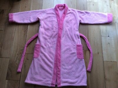 Marks and Spencer Child's Fluffy Pink Dressing Gown (age 11-12 years)