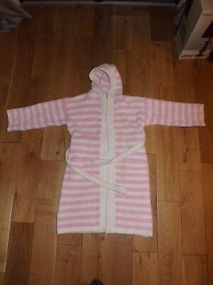 Next Pink and White Striped Fluffy Dressing Gown (Age 11-12 years)