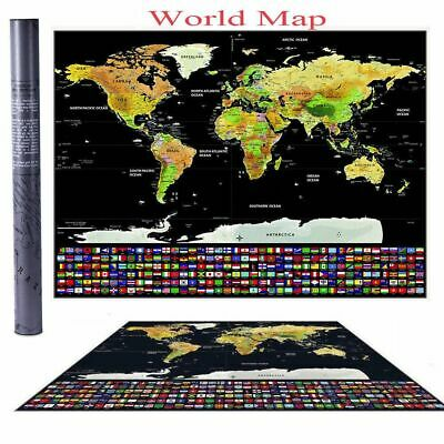 Wall Sticker Paper World Map Personalized Travel Home Decoration Atlas Poster