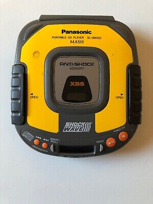 1996 Panasonic SL-SW202 Shock Wave Portable CD Player, Tested - Working