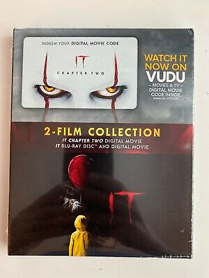 IT Blu-Ray + Digital & IT Chapter Two Digital 2-Film Collection - NEW Sealed