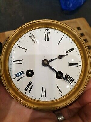Antique French 8 Day Striking Clock Movement.