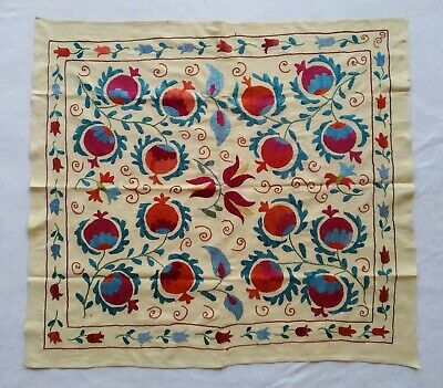 Pomegranate Vintage Wall Hanging Uzbek Hand Embroidery Suzani SALE WAS $189.00
