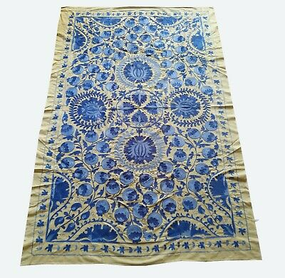 Large Uzbek Hand Embroidery Vintage Tablecloth Original Suzani SALE WAS $355.00