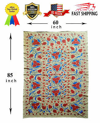 Vintage Multicolor Uzbek Wall Hanging Tablecloth Gift Suzani SALE WAS $245.00