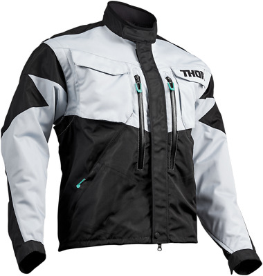 Thor S9 Terrain Jacket - Lg Light Grey/Black