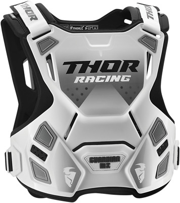 Thor Guardian Chest Guard - XL/2X White/Black 2701-0867