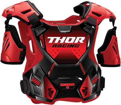 Thor S20 Guardian Roost Deflectors - M/L Black Red 2701-0957
