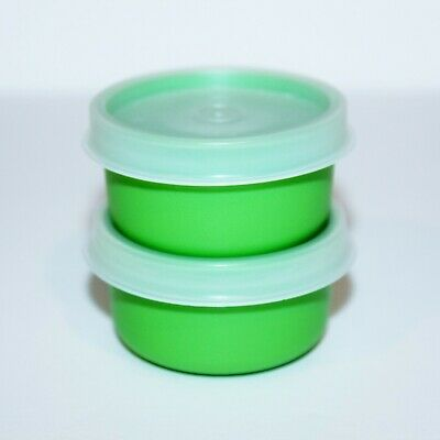 Tupperware Smidgets Set of 2 Little 1 oz. Mini Storage Containers Green