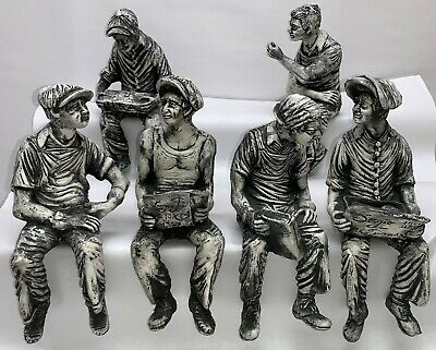"""6 Sergio Furnari 11"""" Sculptures from """"Lunchtime on a Skyscraper"""" American Heroes"""