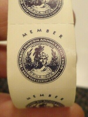 1930 Bureau Issues Association member stamps - roll of hundreds