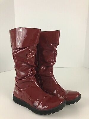 Lelli Kelly Size 2 Girls Valentine Red Patent Faux Leather Knee Boots