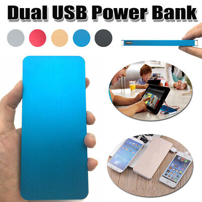 50000mAh Dual USB Power Bank QuickCharge Portable Battery powerbank Fast Charge