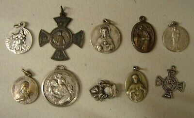Z4. Lot of ten ancient religious medals