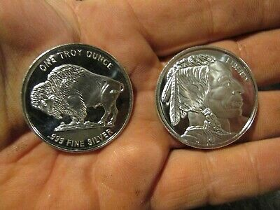 Silver Bullion 1 oz  x 2 rounds total of 2 troy ounces