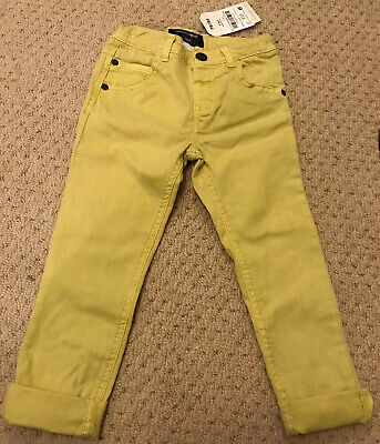 Boys Lime Green Jean Type Trousers By NEXT, Age 2-3 Years, New With Tags