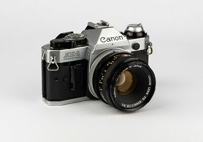Canon AE-1 Program 50mm f1.8 FD Lens, Classic Silver Kit, Excellent Condition,